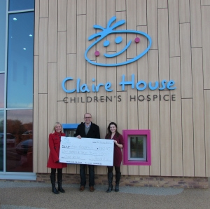 claire house cheque presentation